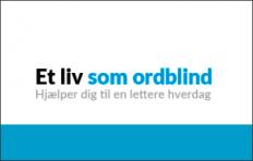 et liv som ordblind logo