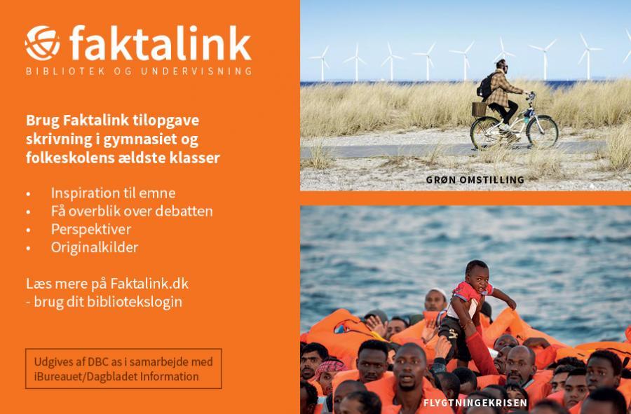 mand der cykler som et symbol på grøn omstilling og bådflygtninge symbol på flygtningekrise
