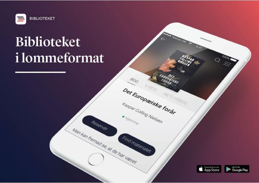biblioteket appen på en mobil